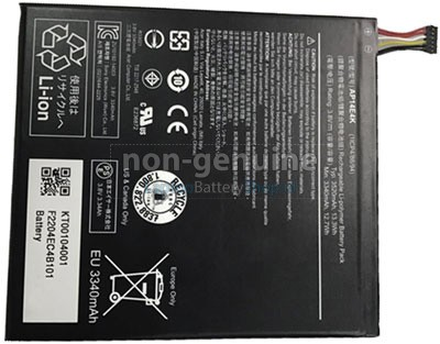 3520mAh Acer Iconia One 7 B1-750(NT.L85EE.006) battery replacement